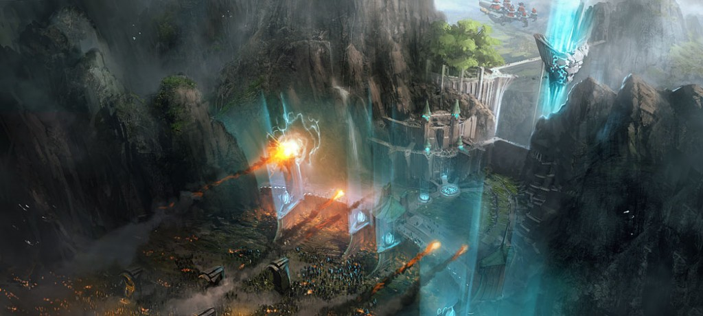 Concept art from GRIN's canceled Final Fantasy game, code-named Fortress.