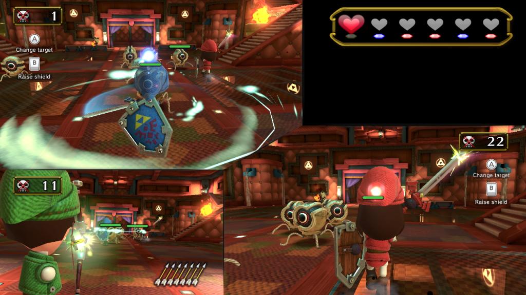 Nintendo Land's Zelda minigame lets you fight alongside your friends.