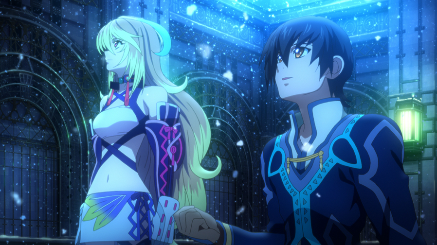 Xillia's in-game animated scenes were created by Ufotable, rather than series regulars Production I.G.