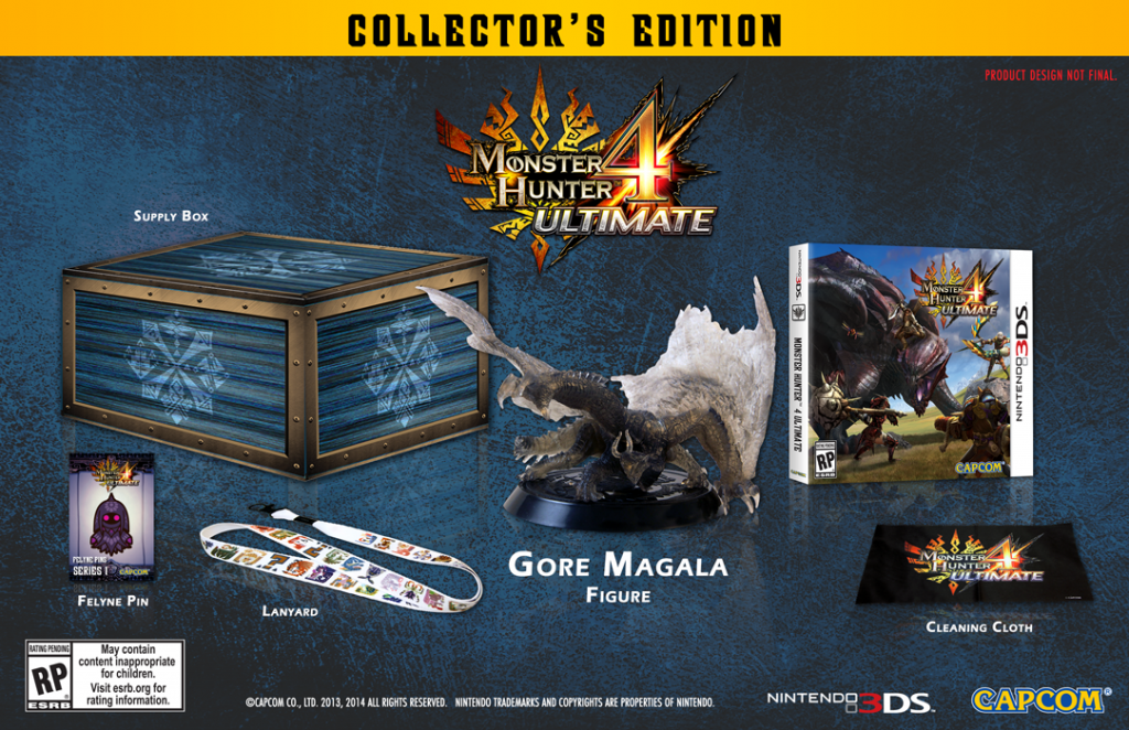 These are the various items included in the collector's edition.