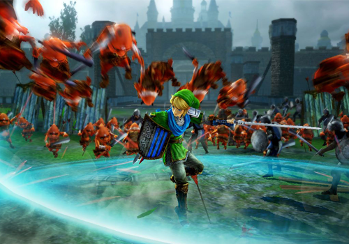 Familiar weapons and attacks accompany Link in his battles.